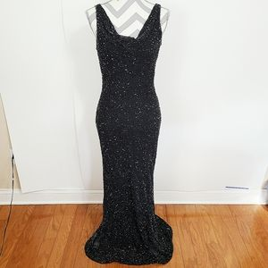 Cristal Collection   Formal Dress Beaded Black 8